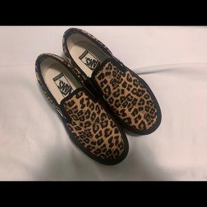 custom cheetah platform vans
